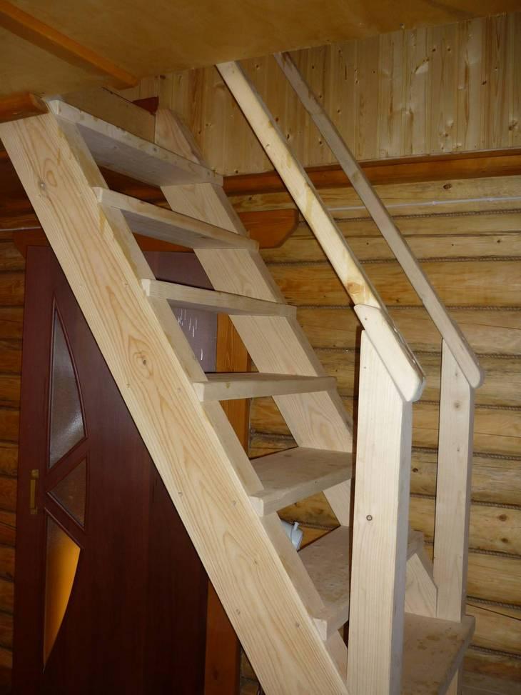 Лестница на второй этаж своими руками на даче фото