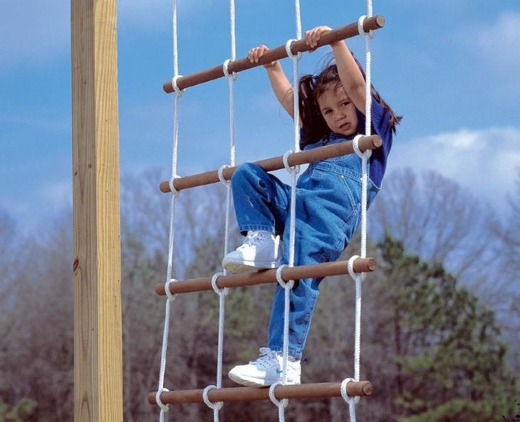 Веревочная лестница своими руками фото