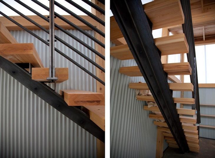 Деревянная лестница своими руками на металлическом каркасе 58