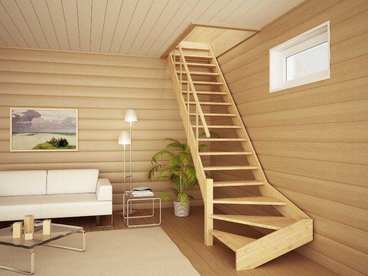 Деревянные лестницы на даче своими руками фото