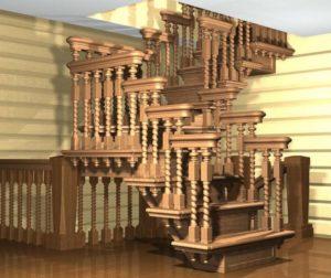 Идеальная лестница для деревянного дома