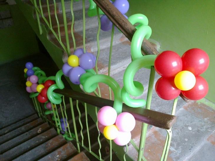 Из шариков тоже можно сделать цветы