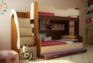 Лестница-комод: экономия пространства в детской