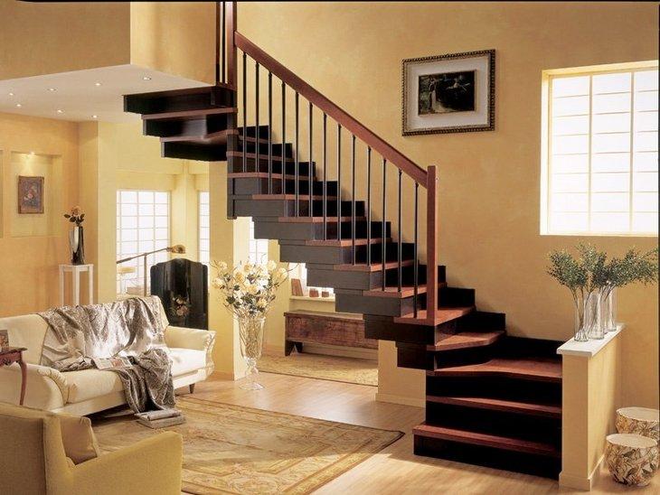 Фото лестниц на второй этаж в частном доме 14 фотография