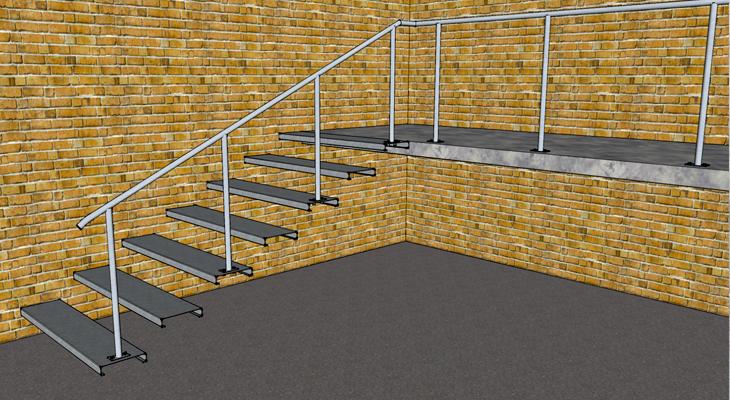 Программа для расчета поворотных лестниц