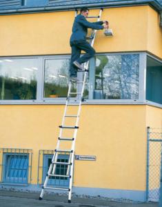 Телескопическая лестница для работ на высоте