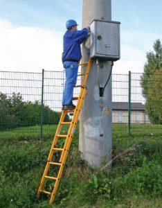 Диэлектрическая лестница – электроток не страшен