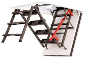 Раздвижные металлические лестницы для чердака