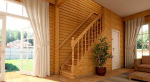 Уникальный дизайн лестницы в загородном доме