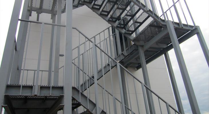 Правильно сделанная аварийная лестница