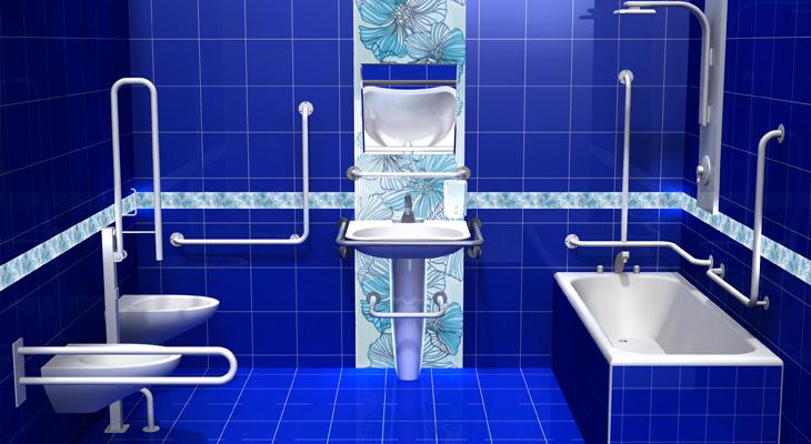 Проект ванной комнаты для инвалидов