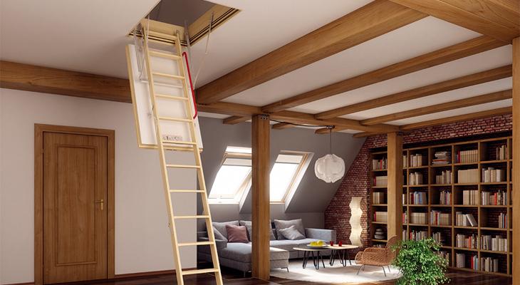 Лестницы от Факро: безопасный подъем на мансарду