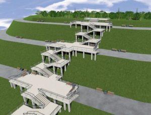 Опубликован проект лестницы в Нагорном парке Барнаула