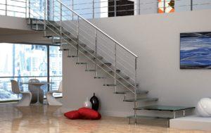 Особенности лестниц из стекла и металла