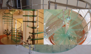 Винтовая стеклянная лестница
