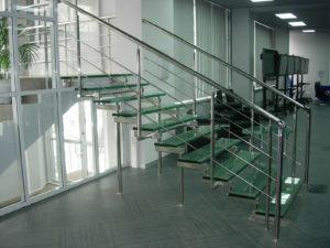 Элементы лестниц из нержавеющей стали