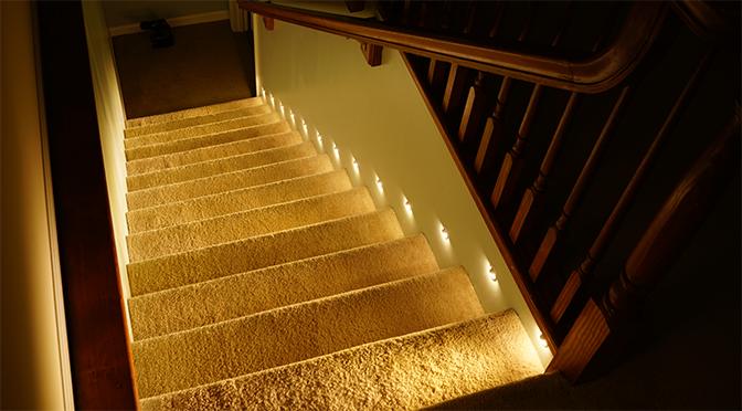 Роль правильного освещения лестницы