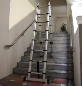 Использование телескопических лестниц